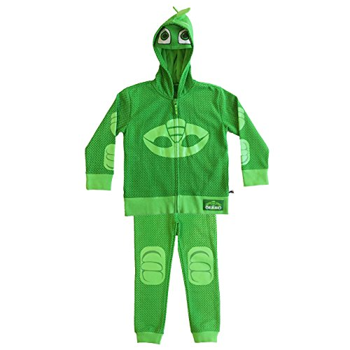 Gecko Costume (PJ MASKS Toddler Boys' Gecko Hoodie and Jogger Set, Green, 4T)