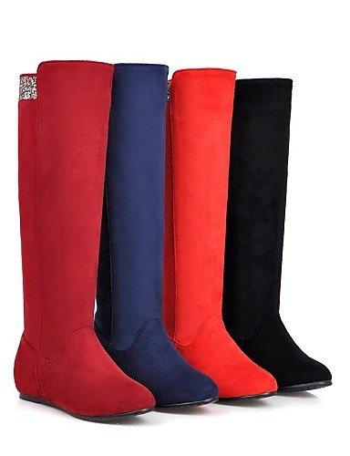 Red 5 Moda Azul us10 Uk7 Casual Uk8 Redonda us9 5 negro Mujer A Xzz La Blue Zapatos Botas Eu42 De Tacón Cn43 Cuñas Cuña Vestido Punta 10 Eu41 8 Cn42 5 Rojo 5 Vellón pOPaUqwO