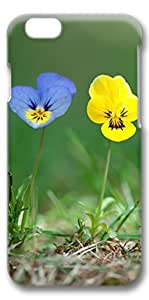 iPhone 6 Case, Custom Design Covers for iPhone 6 3D PC Case - Blue Yellow Flowers