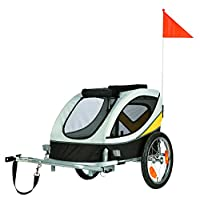 Trixie 12807 Fahrrad-Anhänger, grau/schwarz/gelb