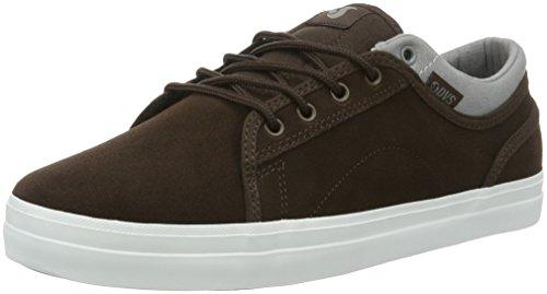 DVS Shoes Aversa, Men Skateboarding Brown - Braun (Brn Gry Suede 200)