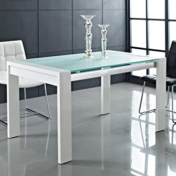 Amazoncom Modway Lakeshore Frosted Glass Dining Table Tables - Frosted glass kitchen table