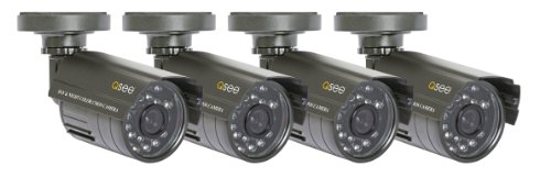 Q-See QSM1424C4  4 Pack of Color Indoor/Outdoor CMOS Cameras with Night Vision up to 40ft ()
