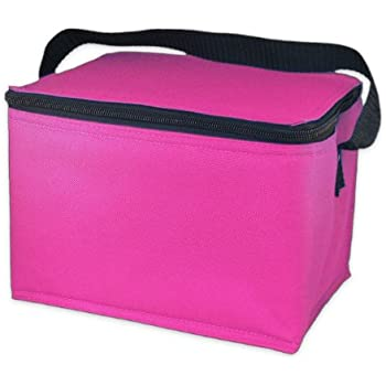 EasyLunchboxes Insulated Lunch Box Cooler Bag, Pink