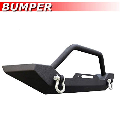 Mifeier Black Front Bumper Guard Fit 1987-2006 Jeep Wrangler TJ/YJ