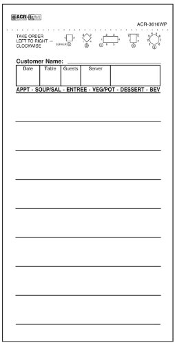 (DayMark Guest Check Bond, 1 Part, White (Case of 50 Packs, 100 Sheets per Pad))
