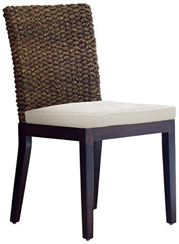 Panama Jack Sunrooms PJS-1001-ATQ-S Sanibel Side Chair with Cushion, Bahamian Breeze Surf