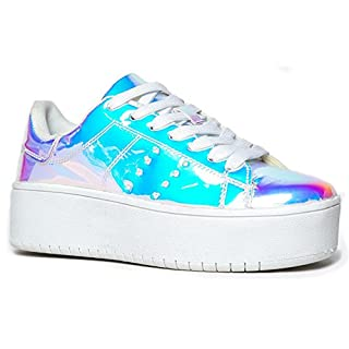 J. Adams Hero Platform Sneakers for Women - Casual Lace Up Fashion Tennis Shoes