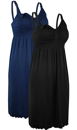 Donna Premaman deep Reggiseni Reggiseno Ilovesia black Blue 2pack Dress Nursing Z1xtTgqw