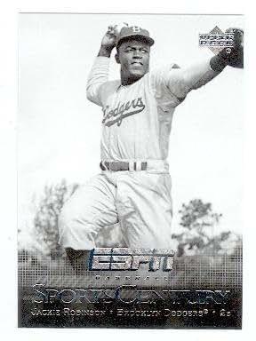 Jackie Robinson Baseball Card (Brooklyn Dodgers) 2005 Upper Deck #SC-2 ESPN Sports Century