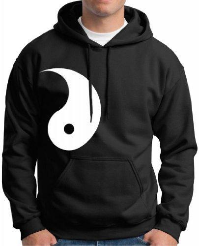 Yang, Yin-Yang Couple's Premium Hoodie Sweatshirt Large Black (Yin Yang Adult Sweatshirt)