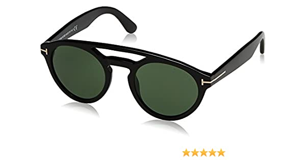 937e4ed3e5fd7 Tom Ford 537 01N Black Clint Round Sunglasses Lens Category 3 Size 50mm at  Amazon Women s Clothing store