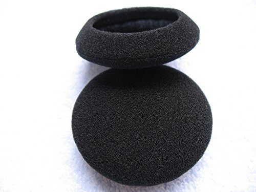 "RETON 8 Pack 1.4"" (35mm) Headphone Earphone Foam Ear Pad Earpad Cover For Sony MDR-Q21/Q22/Q23/Q38 /Q21LP/Q68/BT140Q/Q50/Q55/G73/ Motorola S305 / Philips SHS3800 / Audio-Technica EQ66/ EQ77/ EQ330/ EQ33 Headphones (Black)"