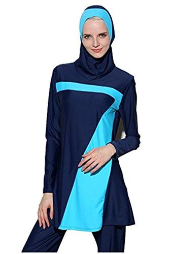 per bagno Costumi Nuovo Donne Nuoto bagno Nuotare Beachwear Modesto Costume Pieno da Musulmano da uomo TianMai da Hijab Completo Costume 70 Copertina islamico x7Xdwg7qn