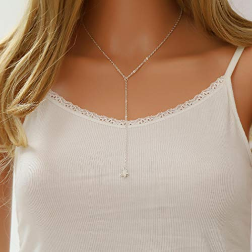 Fstrend Gypsy Lucky Necklace Simple Dainty Long Necklace Jewelry for Women and Girls ()