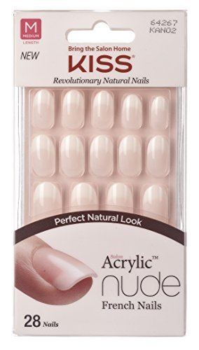 Kiss Salon Acrylic Nude French Nails 28 Count (Graceful) (3 Pack) Ivy Enterprises Inc.