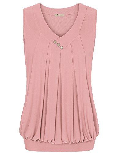 Timeson Womens Sleeveless Pleated Breathable