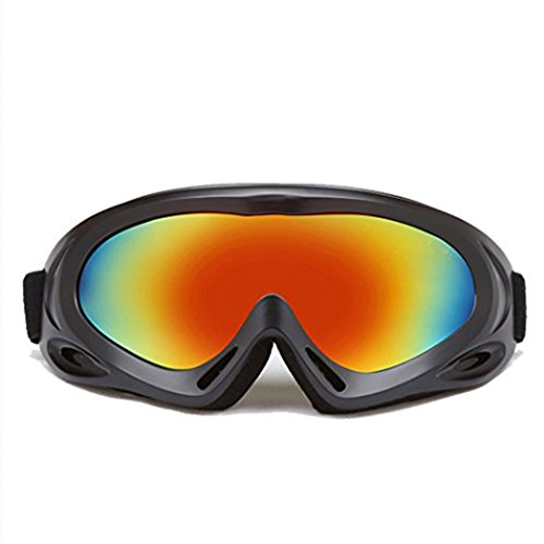 Ski Goggles,100% UV Protection Wind Resistance Anti-fog Coated Multicolor Snow Glasses For Women,Men, Great For Skiing ,Skating,Cycling,Snowboard and so on (Grey) (Dragon Dirt Bike Google Lens)