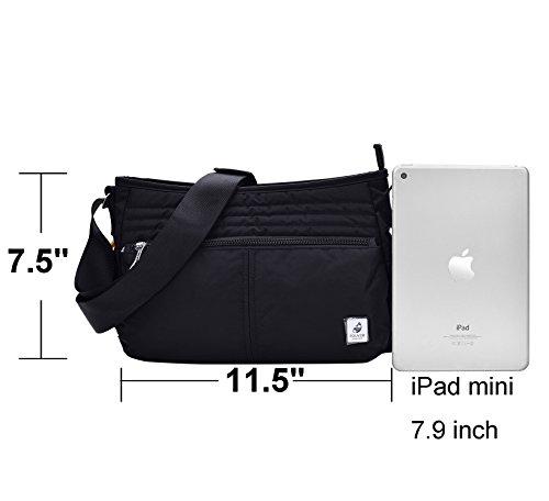 VRLEGEND Hobo Crossbody Bag Multi-Pocketed,Water-Resistant Travel Purse Everywhere