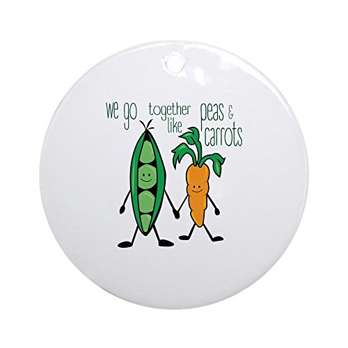 CafePress - Peas & Carrots Ornament (Round) - Round Holiday Christmas Ornament Sweet Pea Ornament