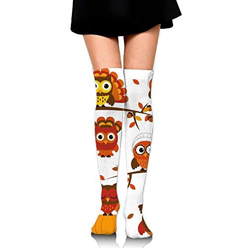 主流日常的に自動車みみずく ストッキング サイハイソックス 3D デザイン 女性男性 秋と冬 フリーサイズ 美脚 かわいいデザイン 靴下 足元パイル ハイソックス メンズ レディース ブラック