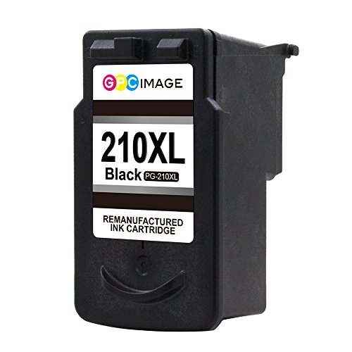 GPC Image PG-210XL Remanufactured Ink Cartridge (InkLevel Chip) Replacement for PG210 XL 210XL PG 210 XL for PIXMA iP2702 MP495 MP240 MX410 MP280 MP480 MX360 MX420 Printer High Yield (2 Black) Photo #2