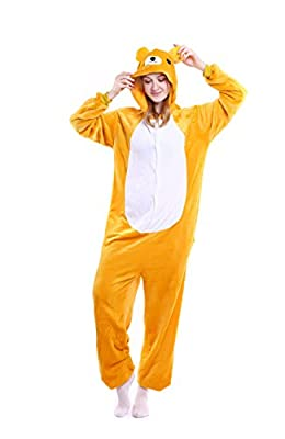 Halloween Rilakkuma Onesie Costume Adult Animals Unicorn Pajamas Cute Sleepwear