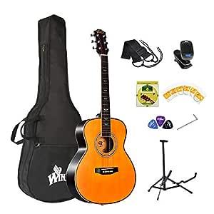 Winzz Guitarra Acústica Kit para Principiantes GS Mini 3/4 Tamaño ...