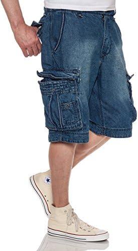 Jet Lag Cargo Shorts Take Off 8 Denim Navy Jeans Shorts