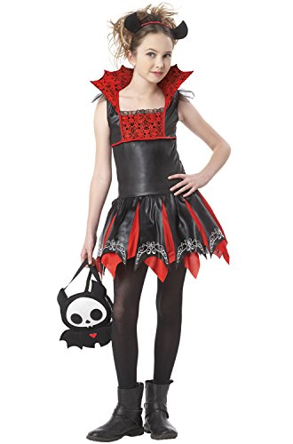 Girl Costumes Cute Vampire (California Costumes Skelanimals Diego, The Bat -)