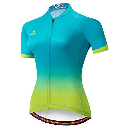 Uriah Women's Cycling Jersey Short Sleeve Reflective Green Yellow Size M(CN)
