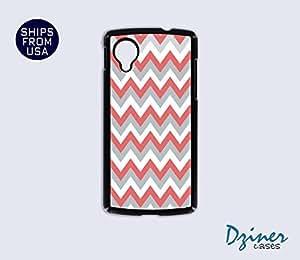 Nexus 5 Case - Grey Coral White Chevron iPhone Cover