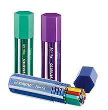 Stabilo Pen 68 Big Box - Caja de 20 Rotuladores Multicolores, Colores Surtidos