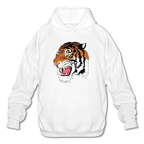Clemson Tigers Sunshade (Tjame Men's Carolina Clemson Tigers Strong Tiger Head Sweatshirts White)