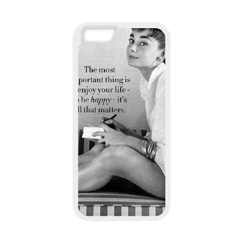 Audrey Hepburn coque iPhone 6 Plus 5.5 Inch Housse Blanc téléphone portable couverture de cas coque EBDOBCKCO13440