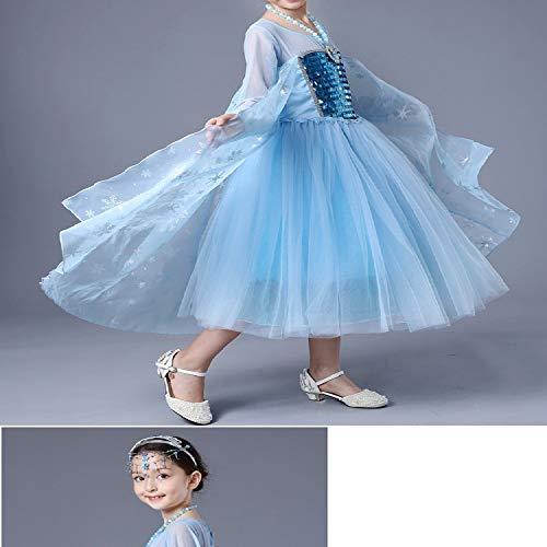 Vestido De Dama De La Princesa De La Nieve Aisha Vestido De La Reina De Aisha Vestido Congelado De La Reina Elsa, Blue, S: Amazon.es: Ropa y accesorios