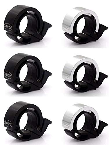 Aluminum Bell - SHEYINJ 6 Pack Mountain Bike Bells, Loud Bicycle Bells, Aluminum Bicycle Bells, Suitable for Adults, Children, Girls, Boys (small/22.2mm)