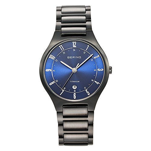 BERING Time 11739-727 Men's Full Titanium Collection Watch with Titan Link Band and scratch resistant sapphire crystal. Designed in Denmark. 11739-727