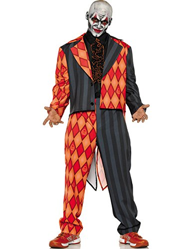 Scary Harlequin Costume (Thriller Adult Costume - XX-Large)