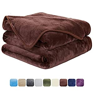 EASELAND Soft Blanket Warm Fuzzy Microplush Lightweight Thermal Fleece Blankets for Couch Bed Sofa by Wensha
