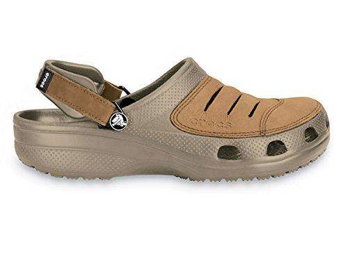 textura clara comprar genuino zapatos clasicos crocs - Zuecos de Piel para Hombre Marrón Marrón/marrón ...