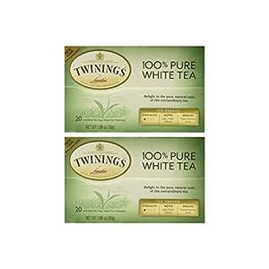 "Twinings of London ""Fujian Chinese Pure White Tea"" : Box of 20 Tea Bags (Pack of 2)"