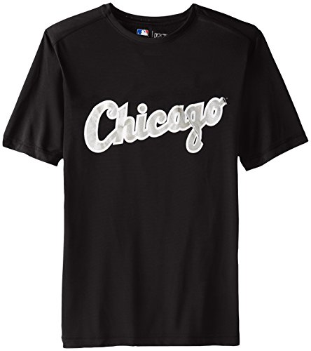 VF LSG MLB Chicago White Sox Men's Synth Mass Wordmark Tee, Black, (Chicago Sox T-shirt)
