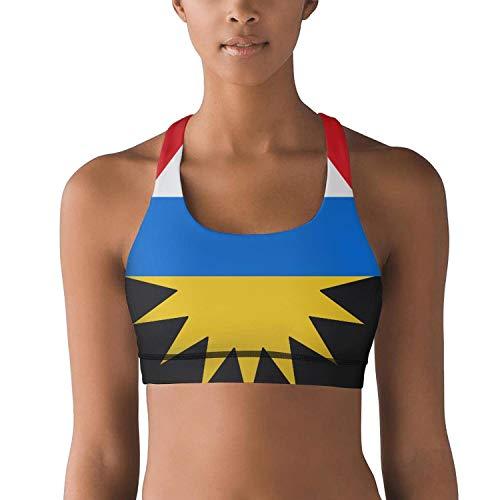 CBBYY Women's Sports Bras Vest Top Antigua Barbuda National Flag Ladies Workout Yoga -