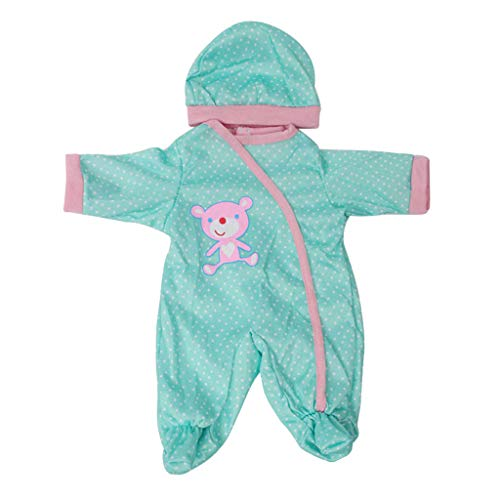 Prettyia New Adorable Polk Dot Printed Rompers with Hat Set Clothing Suit for 17-18inch Reborn Infant Newborn Baby Dolls Clothes