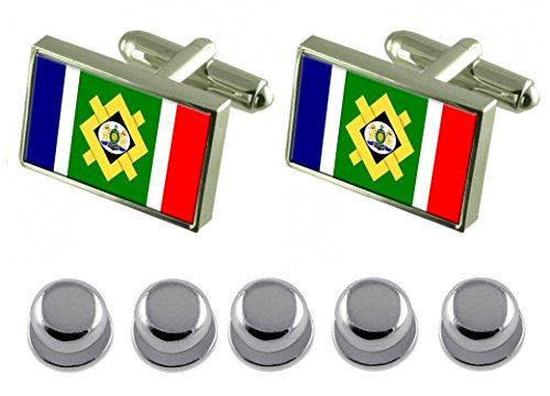Shirt Dress Studs Johannesburg City South Africa Flag Cufflinks by Select Gifts