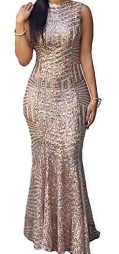 Sisiyer Blush Sequins Keyhole Back Sleev - Sleeveless Keyhole Dress Shopping Results