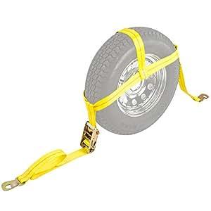 """Auto Hauler 13""""-16"""" Wheel Bonnet Ratchet Tie-Down Strap (Single)"""