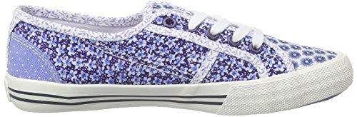 Pepe Jeans London Mädchen Baker Flowers Low-Top Blau (552REGAL BLUE)