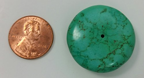 Dyed Sampler (Chinese Simulated Turquoise Dyed Howlite Gemstone Round Flat-Back Cabochons; 1 1/2